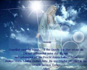 Gegrüßet seist du, Maria, voll der Gnade,