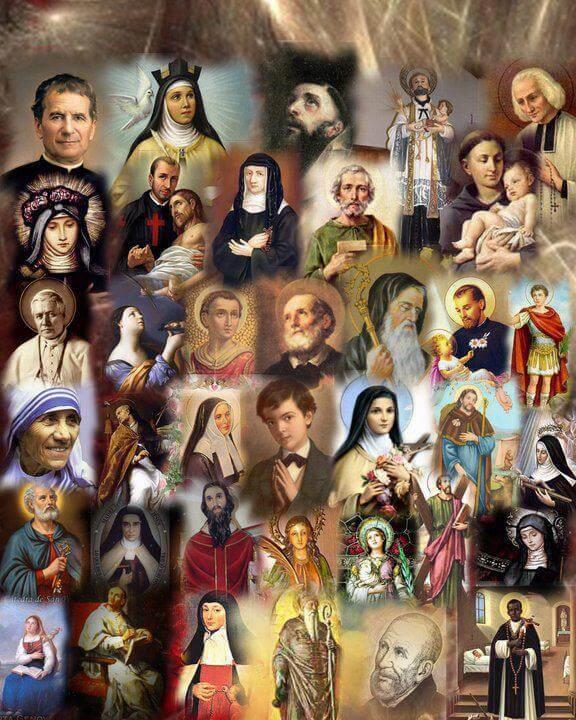 Los santos del Cielo; el Cielo de los santos (+ Reproducción libro)