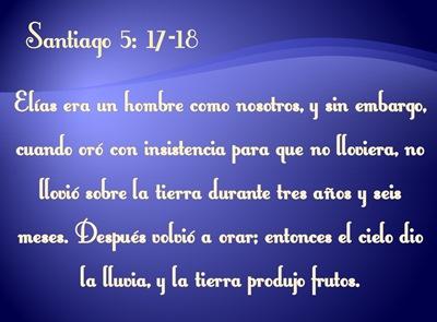 SANTIAGO 5:17-18