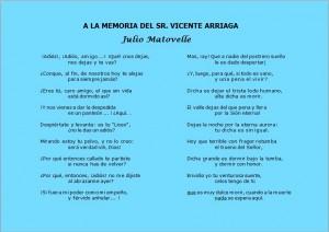 A la memoria del Sr. Vicente Arriaga