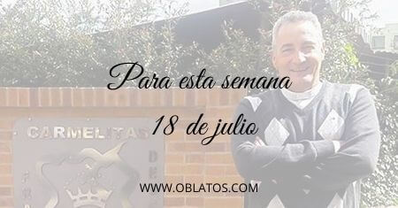 PARA ESTA SEMANA JULIO 18 DE 2021
