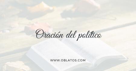 Oración del político