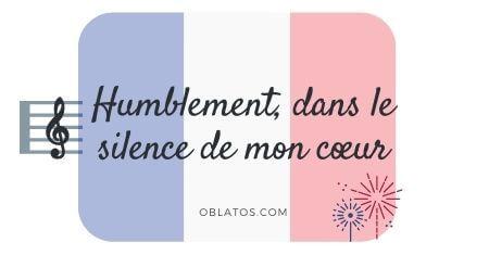 HUMBLEMENT DANS LE SILENCE DE MON COEUR