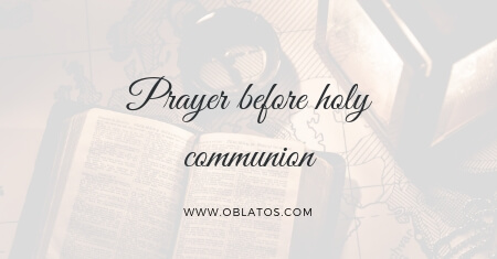 prayer before holy communion